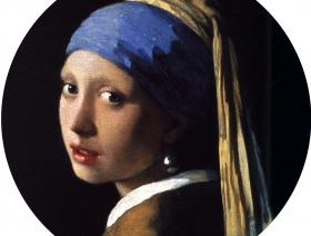 Girl with a Pearl Earring round - Liberty Puzzles - 1