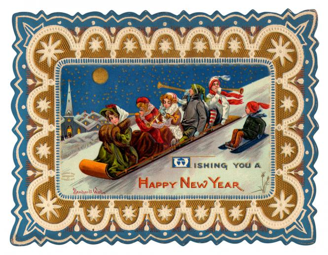 New Year's Toboggan - Liberty Puzzles - 6