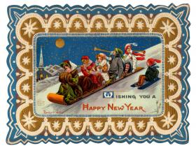 New Year's Toboggan - Liberty Puzzles - 1