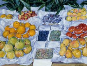 Fruit Displayed on a Stand - Liberty Puzzles - 1