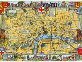 Map of London Large Piece - Liberty Puzzles - 1