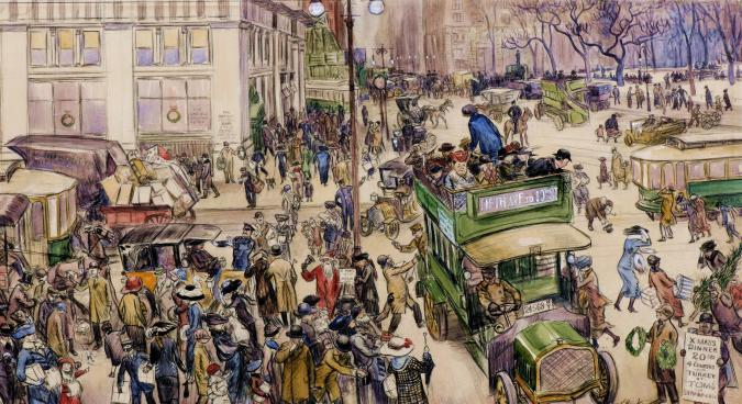Christmas Shoppers, Madison Square - Liberty Puzzles - 6