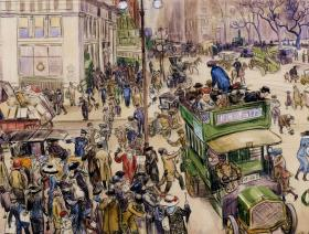 Christmas Shoppers, Madison Square - Liberty Puzzles - 1