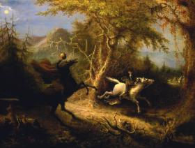 The Headless Horseman Pursuing Ichabod Crane - Liberty Puzzles - 1