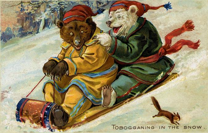Tobogganing in the Snow - Liberty Puzzles - 6