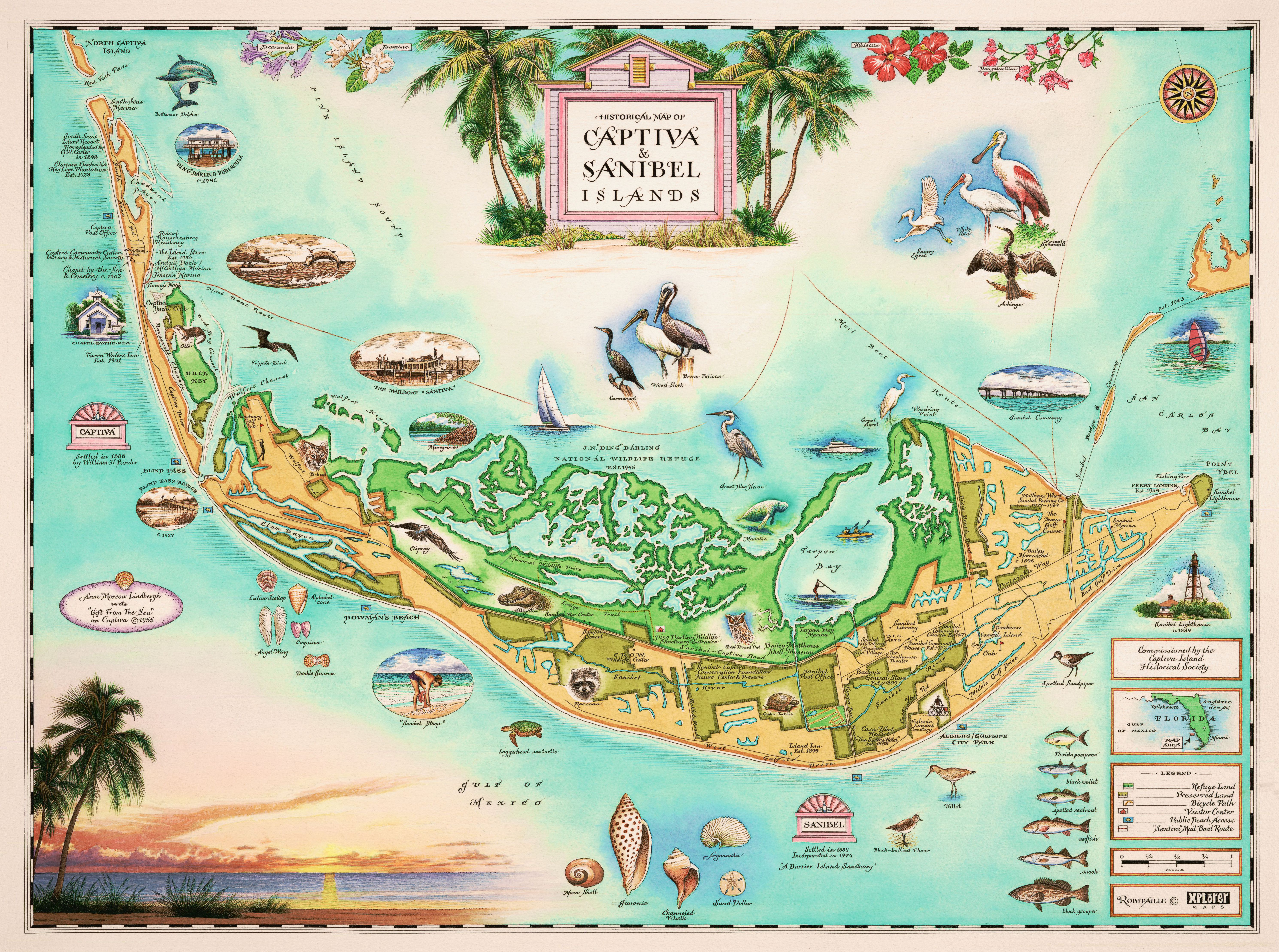 Captiva and Sanibel Islands - Wooden Jigsaw Puzzle - Liberty ... on fort myers map, villas by the sea map, buckingham map, south seas island resort map, st lucie map, martinique on the gulf map, union park map, ft. lauderdale map, alaqua lakes map, captiva map, bowman's beach map, steinhatchee map, florida map, st. augustine map, east coast of the united states map, clewiston map, wellington map, chokoloskee map, pratumnak map, ponce inlet map,