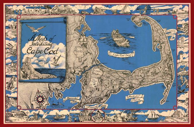 A Map of Interesting Cape Cod - Liberty Puzzles - 9