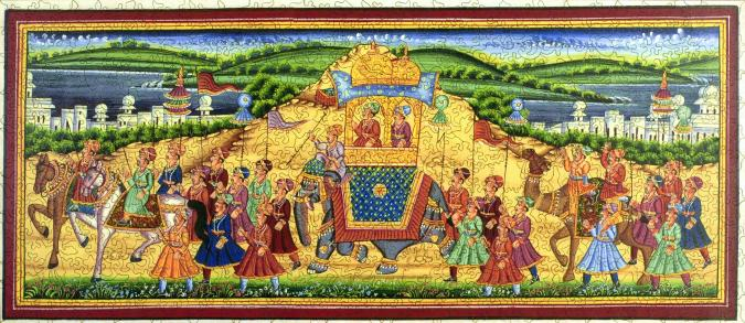 Procession of Akbar, King of the Mughals - Liberty Puzzles - 7