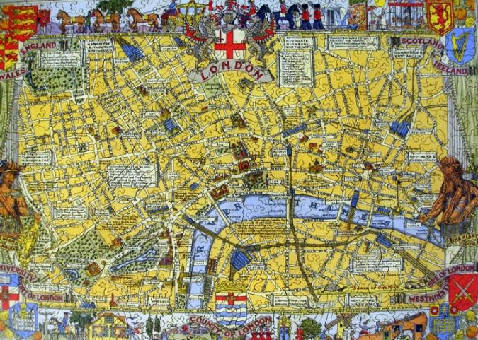 Map of London - Liberty Puzzles - 7