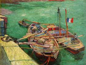 Barges on the River Rhone - Liberty Puzzles - 2