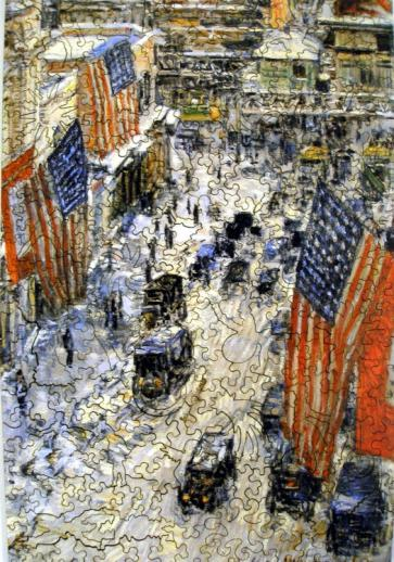 Flags on 57th Street, Winter 1918 - Liberty Puzzles - 6