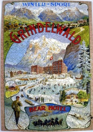 Grindelwald Winter Sport - Liberty Puzzles - 7