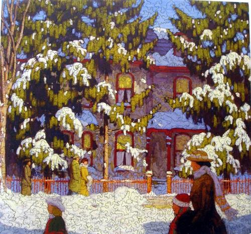 Winter Afternoon, City Street, Toronto - Liberty Puzzles - 7