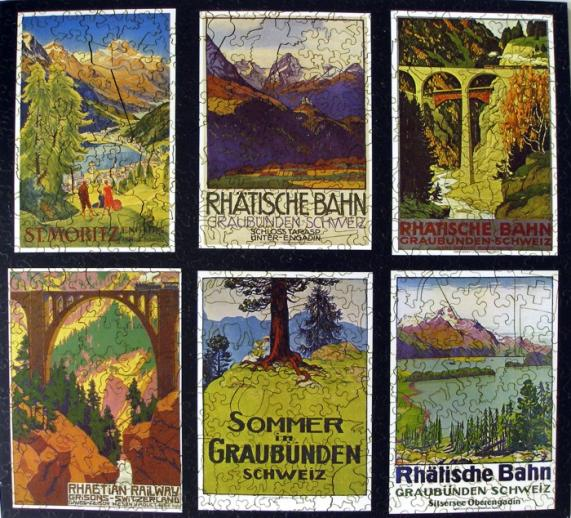 Swiss Alps Travel Posters - Liberty Puzzles - 7