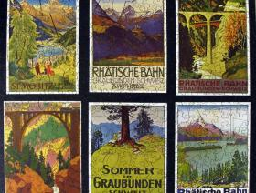 Swiss Alps Travel Posters - Liberty Puzzles - 2