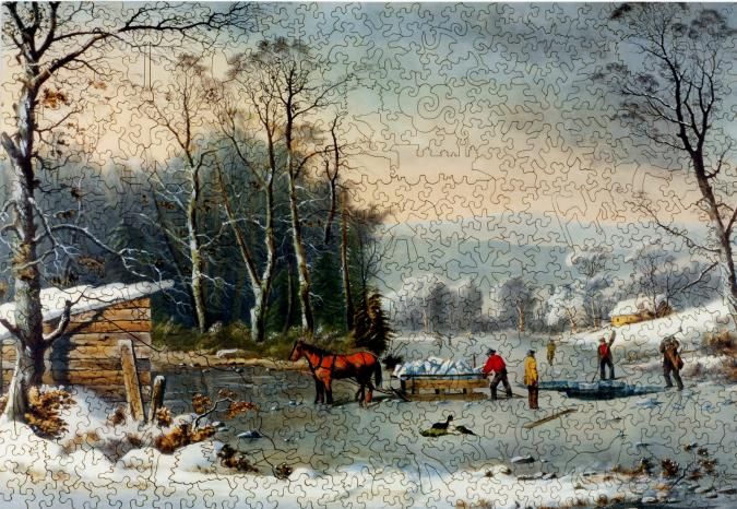 Winter in the Country: Gathering Ice - Liberty Puzzles - 7