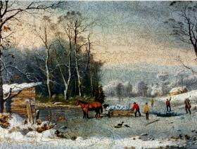 Winter in the Country: Gathering Ice - Liberty Puzzles - 2
