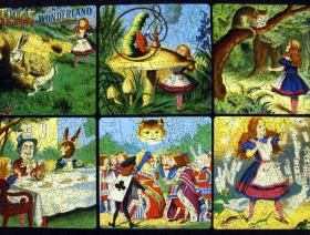 Alice in Wonderland collage - Liberty Puzzles - 2