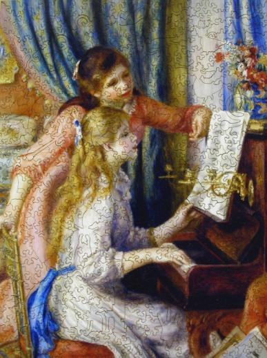 Two Young Girls at the Piano - Liberty Puzzles - 7