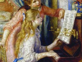 Two Young Girls at the Piano - Liberty Puzzles - 2