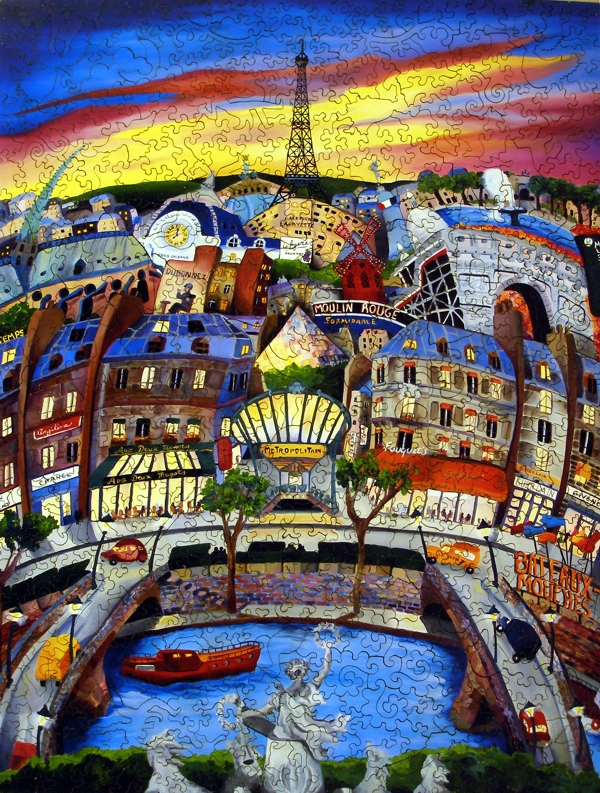 April In Paris Wooden Jigsaw Puzzle Liberty Puzzles