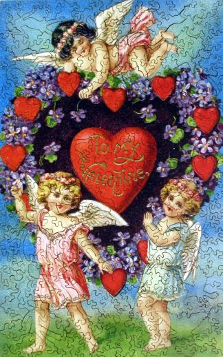 Valentine with Cherubs - Liberty Puzzles - 7