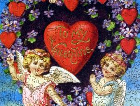 Valentine with Cherubs - Liberty Puzzles - 2