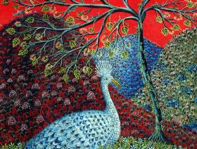 peacock-with-locusts-puzzle-XL.jpg #2
