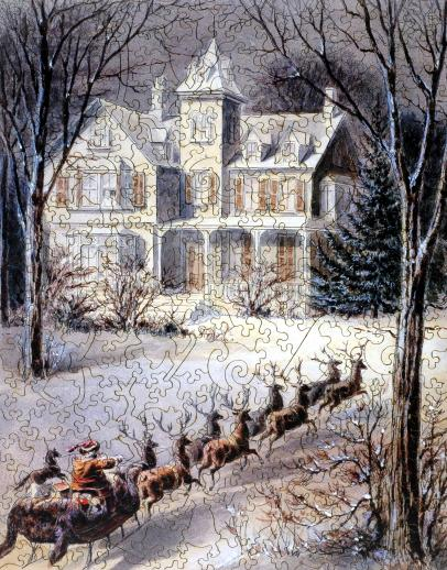 Snowy Sleigh Ride - Liberty Puzzles - 7