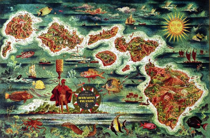 Dole Map of the Hawaiian Islands - Liberty Puzzles - 7