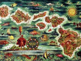 Dole Map of the Hawaiian Islands - Liberty Puzzles - 2