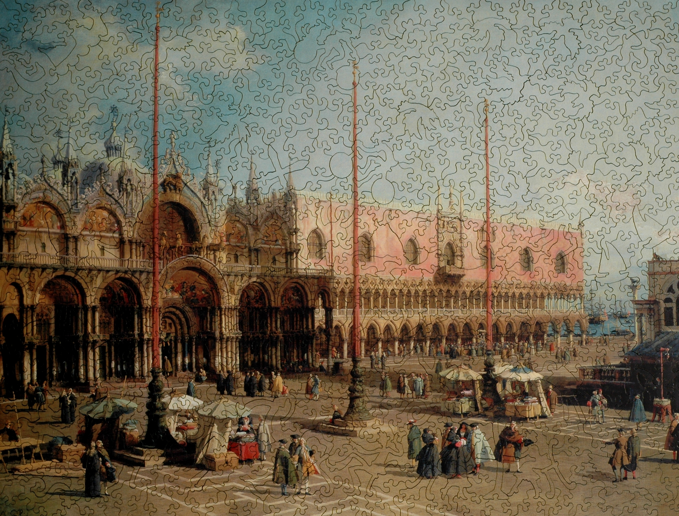 Piazza San Marco - Wooden Jigsaw Puzzle - Liberty Puzzles - Made in ...