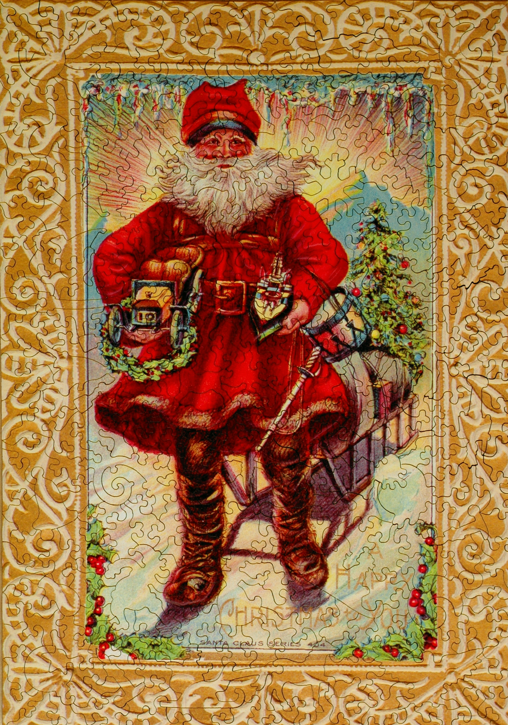 Christmas Tidings Wooden Jigsaw Puzzle Liberty Puzzles