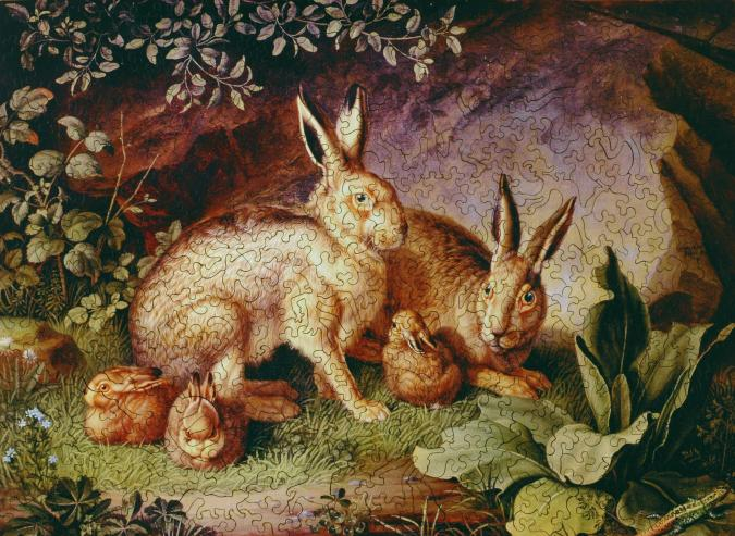 Hares and Leverets in a Rocky Lair - Liberty Puzzles - 7