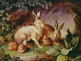 Hares and Leverets in a Rocky Lair - Liberty Puzzles - 2