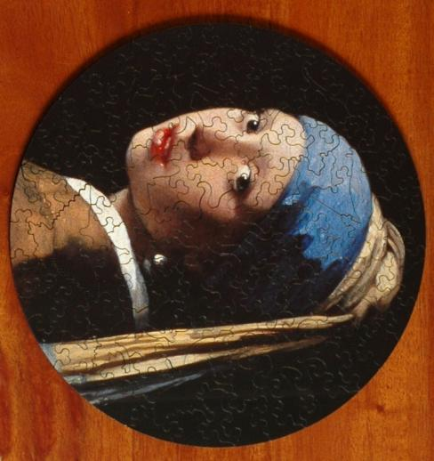 Girl with a Pearl Earring round - Liberty Puzzles - 6