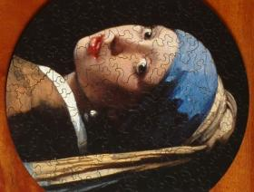Girl with a Pearl Earring round - Liberty Puzzles - 2