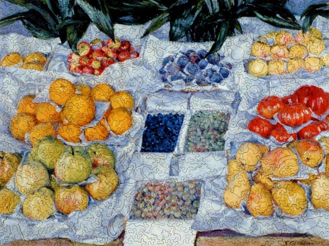 Fruit Displayed on a Stand - Liberty Puzzles - 7