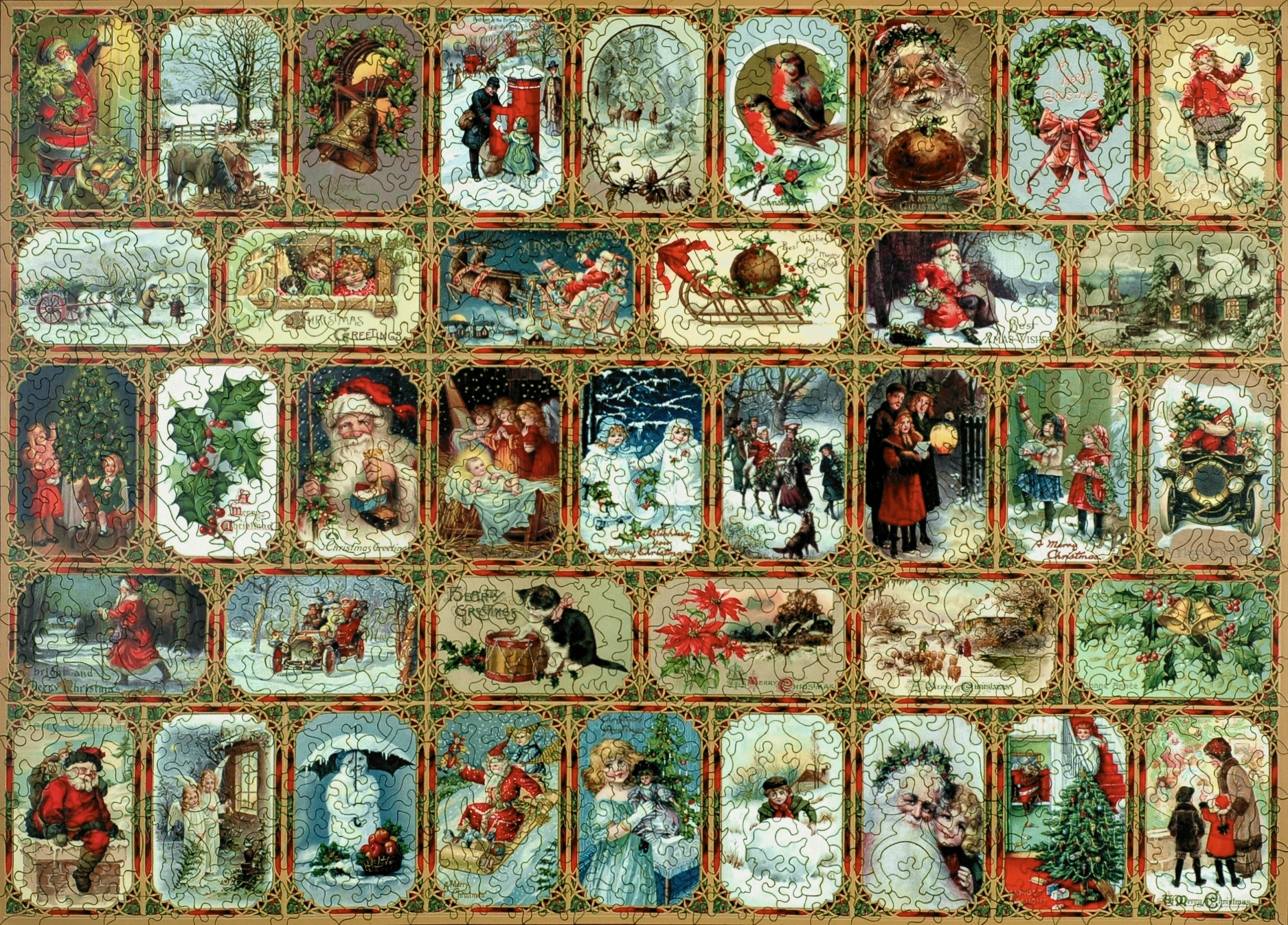 Yuletide Memories Wooden Jigsaw Puzzle Liberty Puzzles