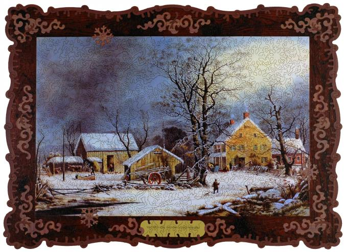 Winter in the Country, A Cold Morning - Liberty Puzzles - 7