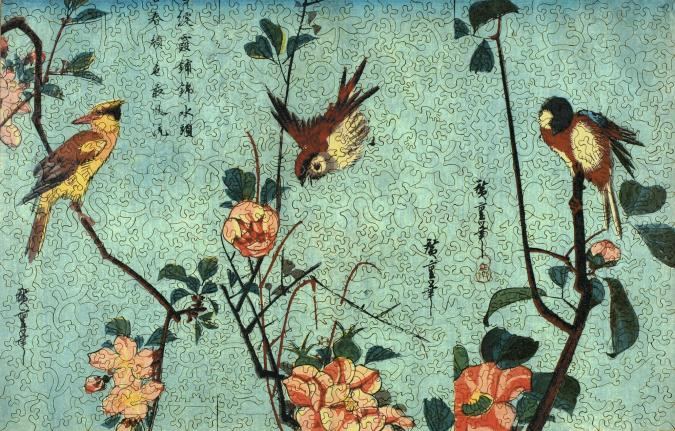 birds-and-camellia-bushes-in-flower-puzzle-xl.jpg #7