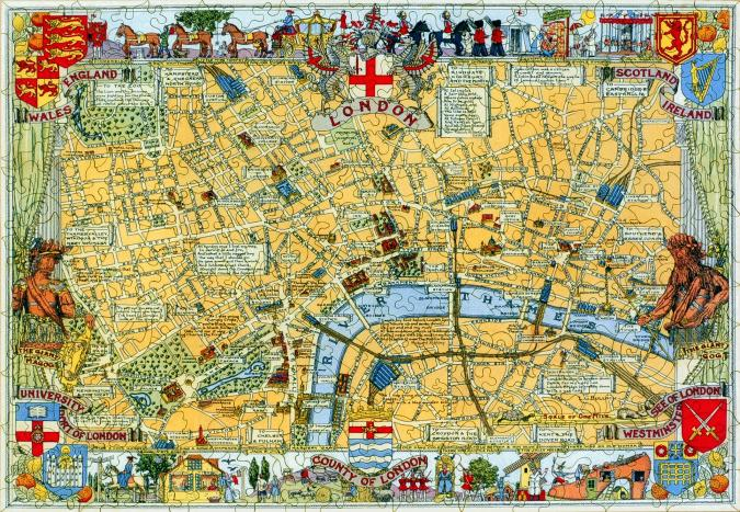 Map of London Large Piece - Liberty Puzzles - 7