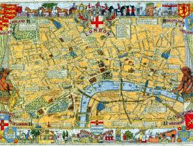 Map of London Large Piece - Liberty Puzzles - 2