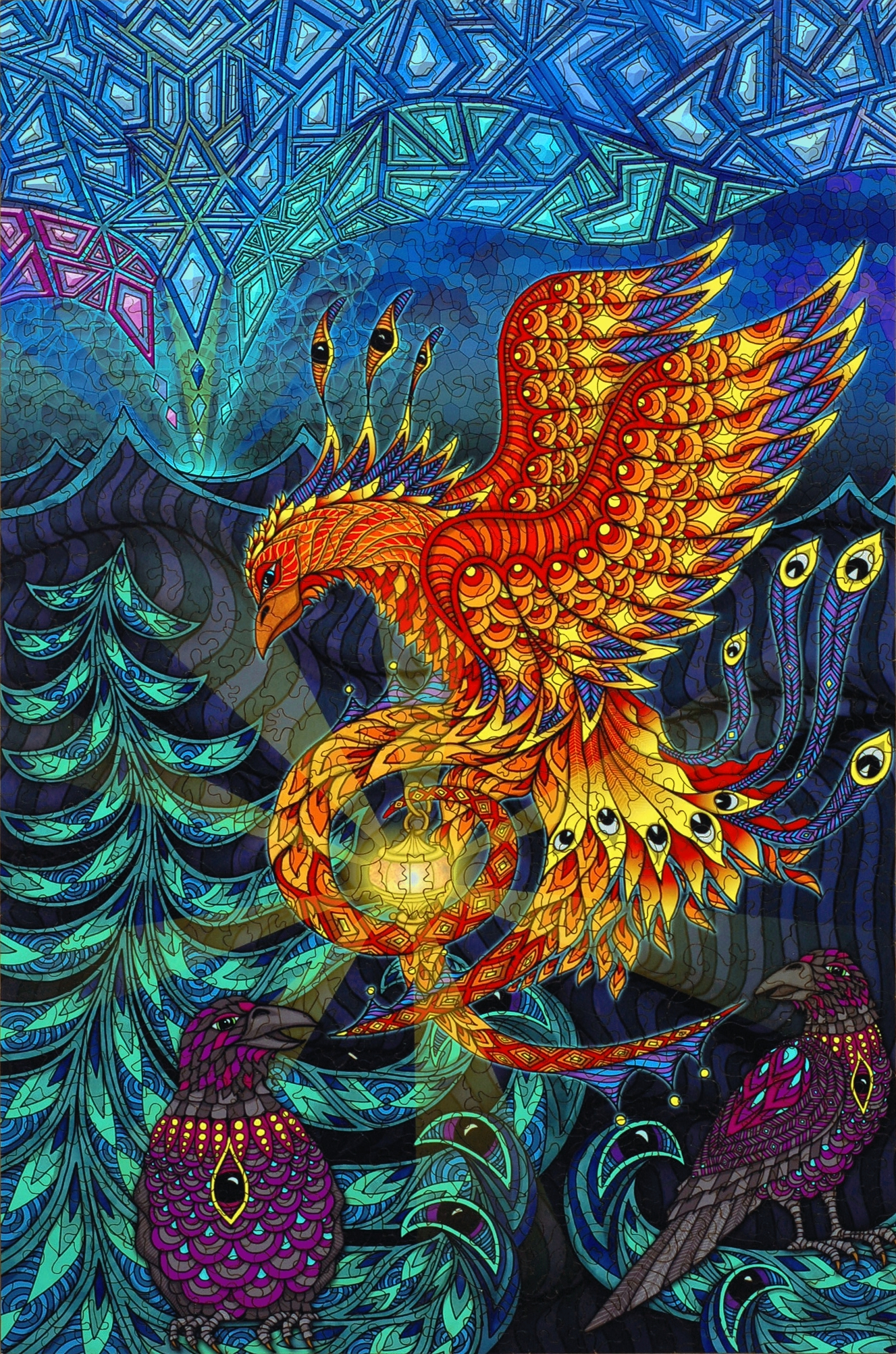 - Phoenix - Wooden Jigsaw Puzzle - Liberty Puzzles - Made In The USA