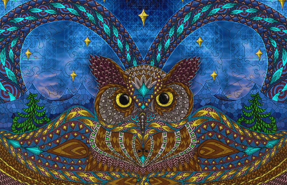 Owl Eyes Wooden Jigsaw Puzzle Liberty Puzzles Made