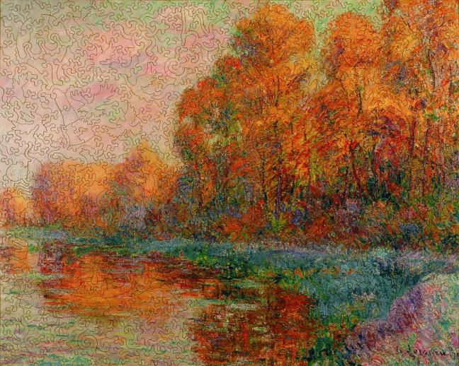 A River in Autumn - Liberty Puzzles - 7