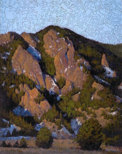 Flatiron Sunrise at the Tangen Tunnel - Liberty Puzzles - 7