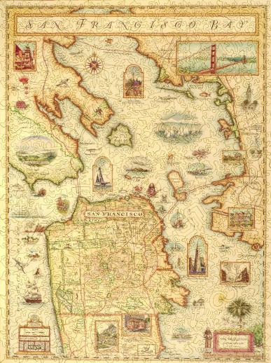 San Francisco Bay Map - Liberty Puzzles - 7