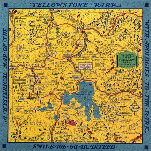 Hysterical Map of Yellowstone Park - Liberty Puzzles - 7