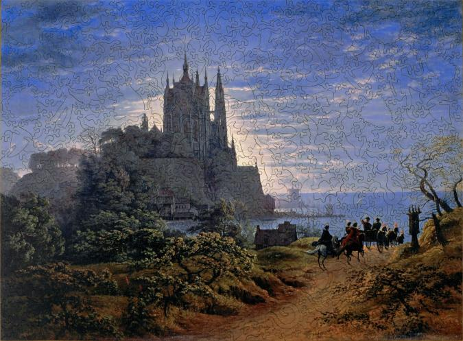 Gothic Church on a Rock by the Sea - Liberty Puzzles - 9